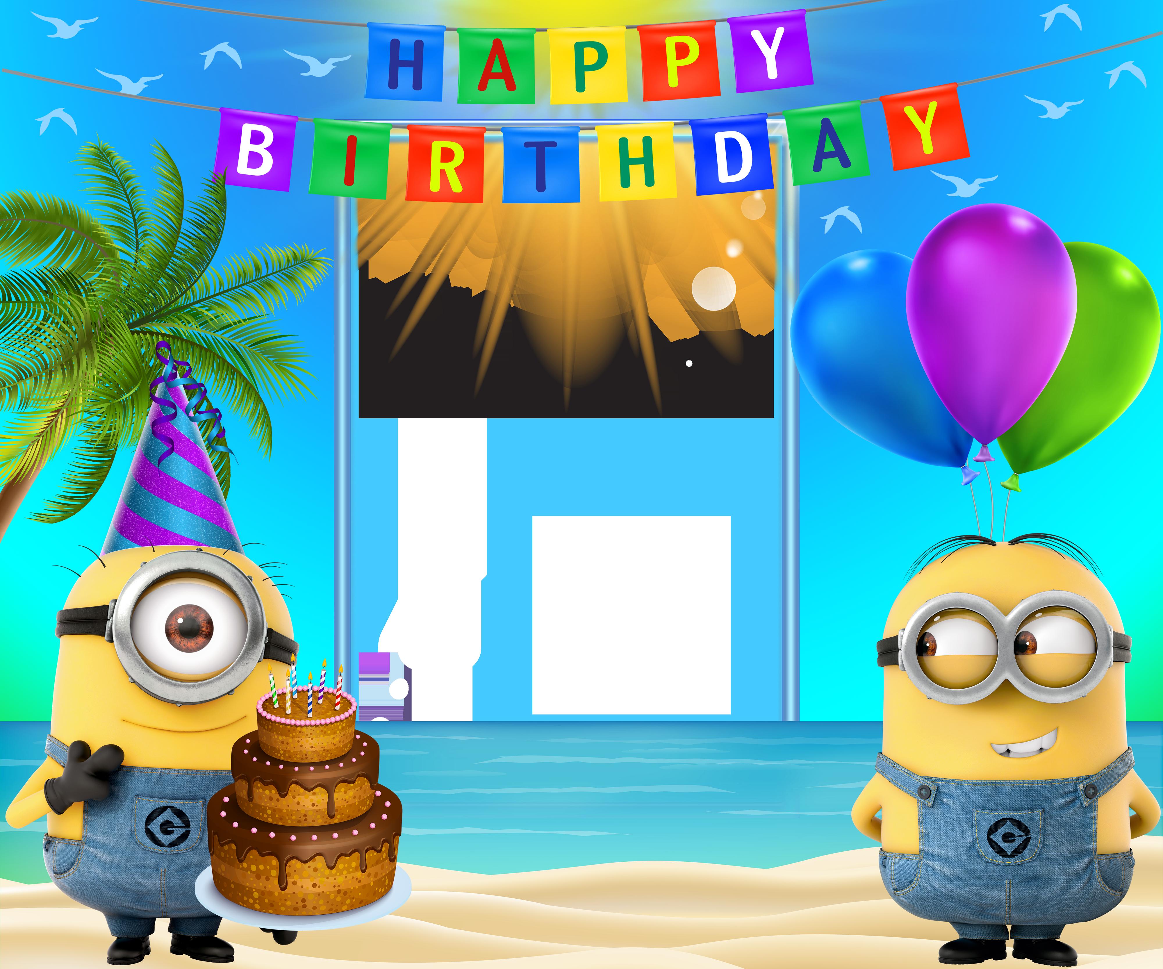 Minion happy birthday clipart clip art free stock Happy Birthday Transparent Frame with Minions   Gallery ... clip art free stock