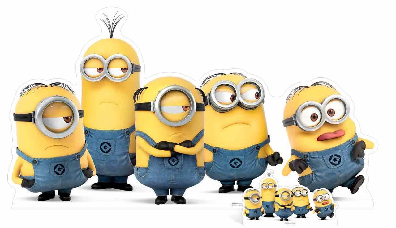 Minion single hand cutout clipart graphic library download Mischievous Minions Group Pose Cardboard Cutout / Standee / Stand up ... graphic library download