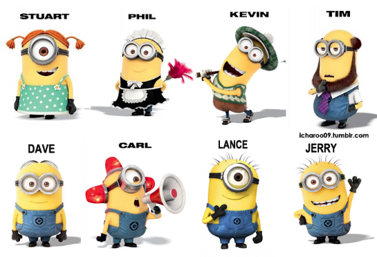 Minion single hand cutout clipart vector freeuse stock For those of you calling the tall one eyed minion Kevin, it is not ... vector freeuse stock