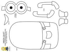 Minion single hand cutout clipart png library library minion cut out template - Google Search: … | Red Ribbon Week | Minio… png library library