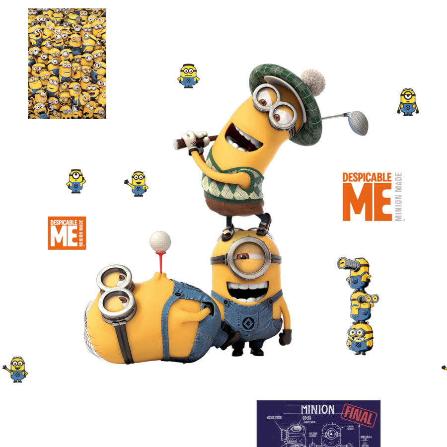 Minion single hand cutout clipart png download Minions: Golf - Large Officially Licensed Removable Wall Decal png download