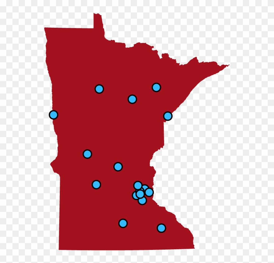 Minnesota map clipart clip black and white Planned Parenthood Centers - Minnesota Republican Democrat Map ... clip black and white