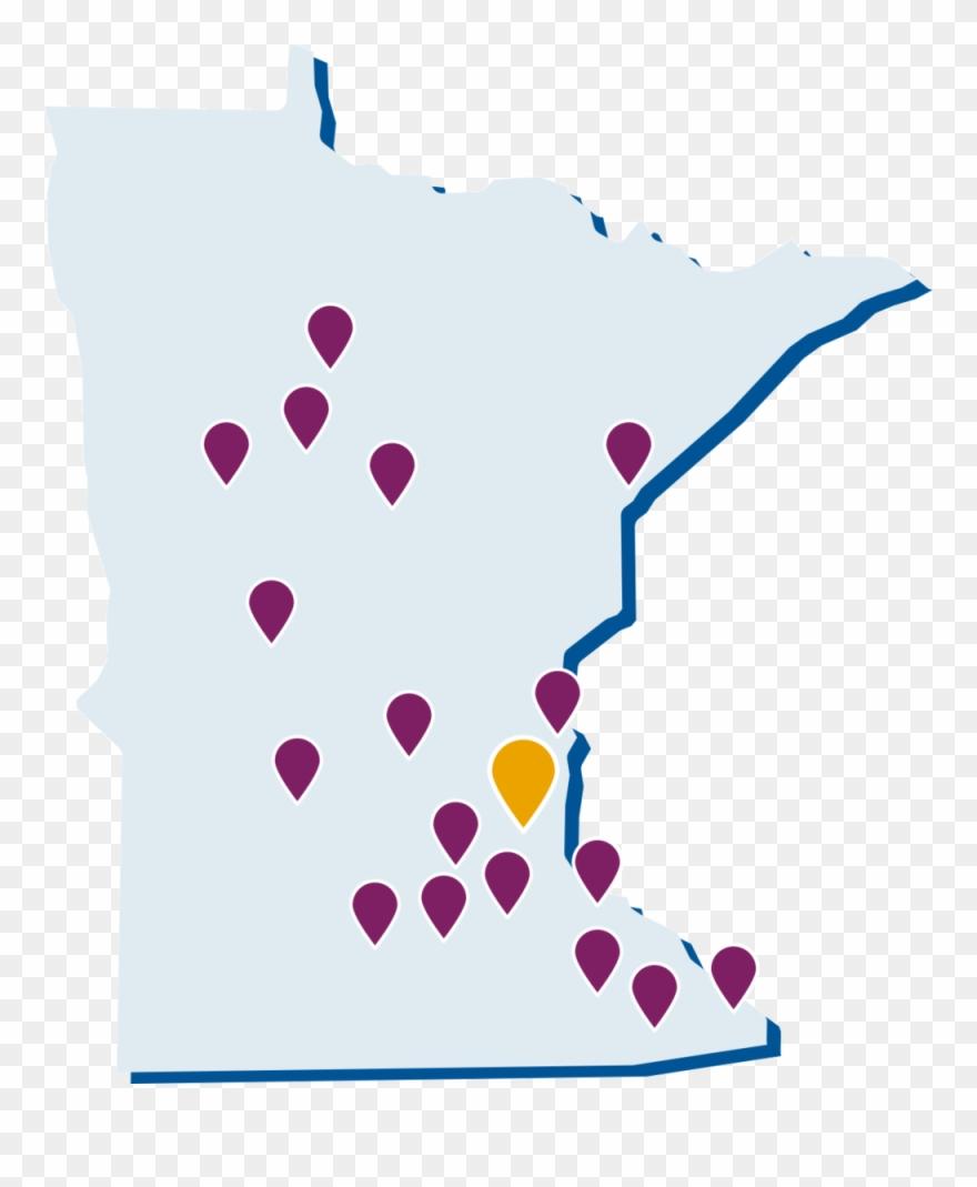 Minnesota map clipart jpg stock Map-localleagues - Minnesota Ffa Region Map Clipart (#4102239 ... jpg stock