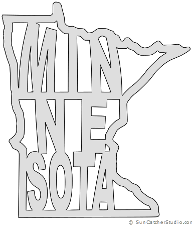 Minnesota map clipart vector royalty free library Minnesota - Map Outline, Printable State, Shape, Stencil, Pattern ... vector royalty free library