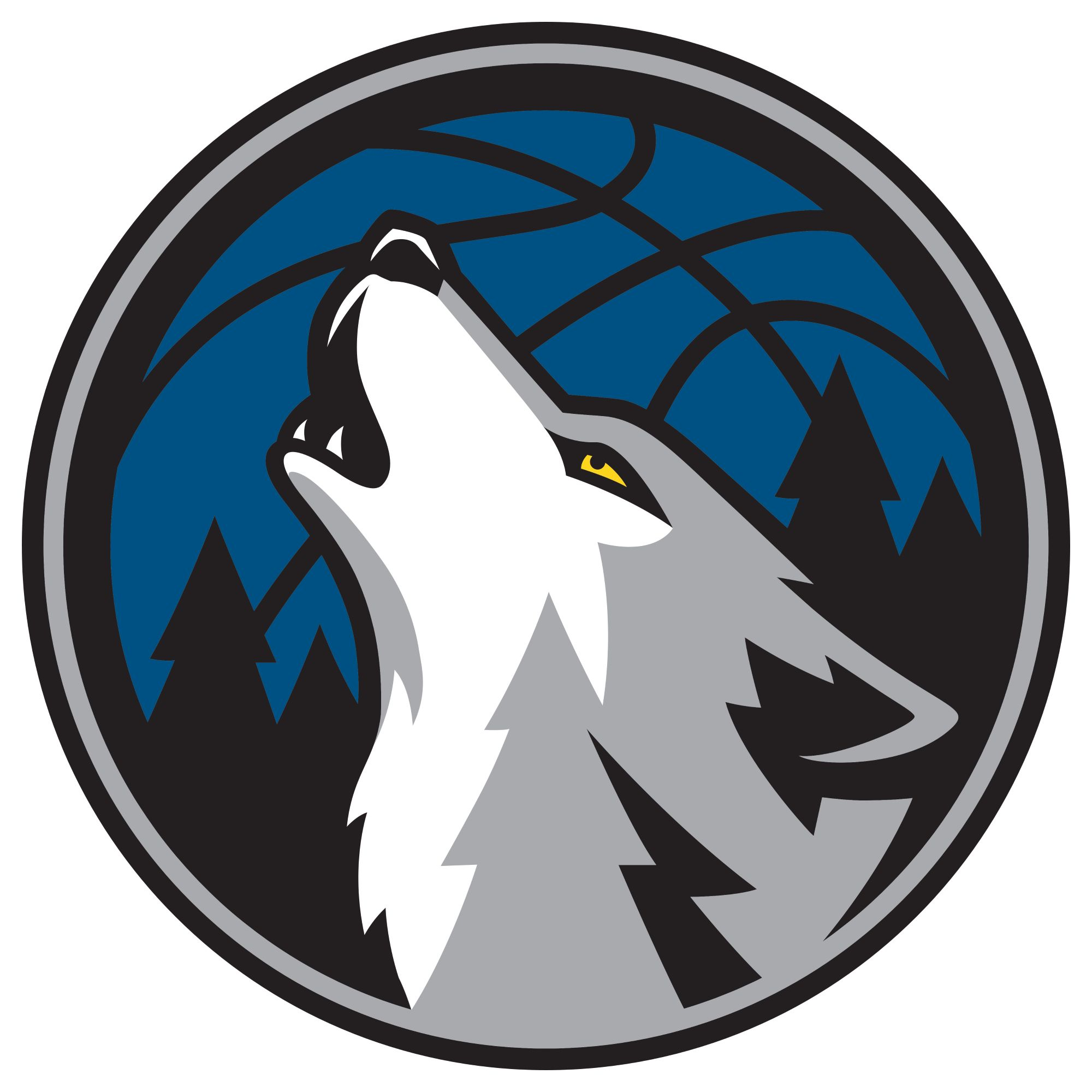 Minnesota timberwolves logo clipart graphic black and white Pin by BLACK Program on Football: Timberwolves | Minnesota ... graphic black and white