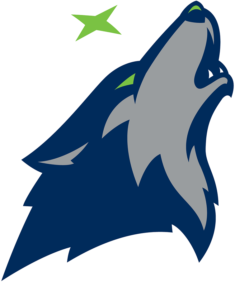 Minnesota timberwolves logo clipart picture black and white download Minnesota Timberwolves Alternate Logo - National Basketball ... picture black and white download