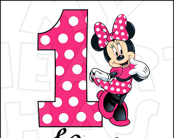 Minnie mouse 1st birthday clipart clipart transparent download Minnie Mouse Number 1 Clipart - Clipart Kid clipart transparent download