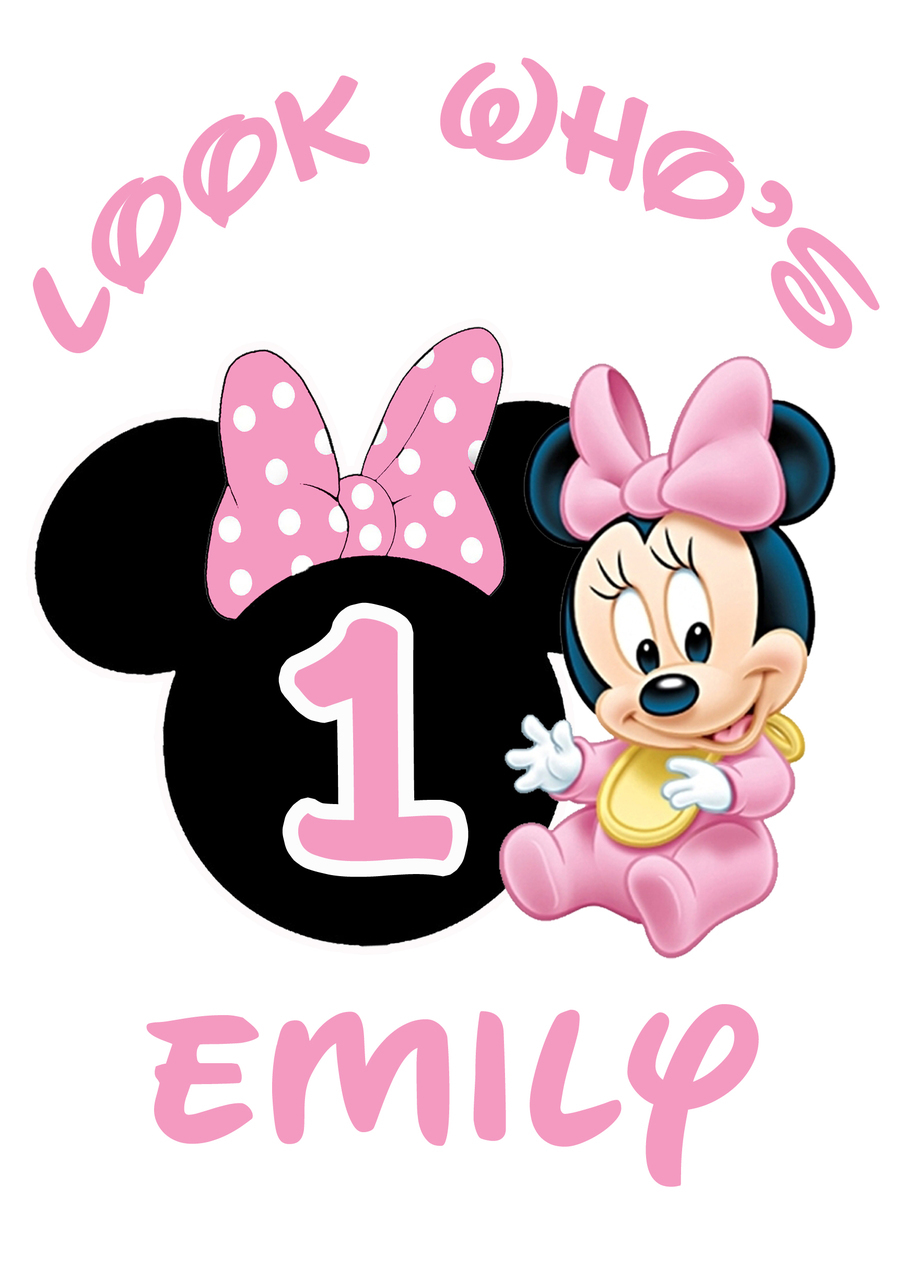 Minnie mouse 1st birthday clipart vector transparent Baby minnie mouse 1st birthday clipart - ClipartFest vector transparent