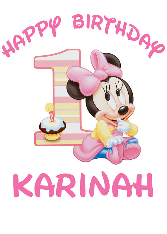 Minnie mouse 1st birthday clipart graphic Minnie 1st Birthday Clipart - Clipart Kid graphic