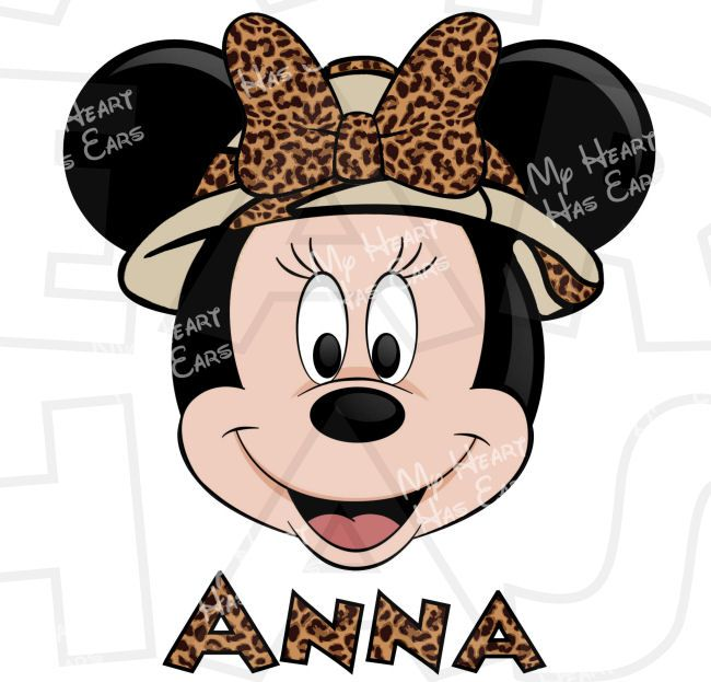 Minnie mouse ears with disney kingdom clipart graphic stock Safari Minnie Mouse head Animal Kingdom INSTANT DOWNLOAD digital ... graphic stock