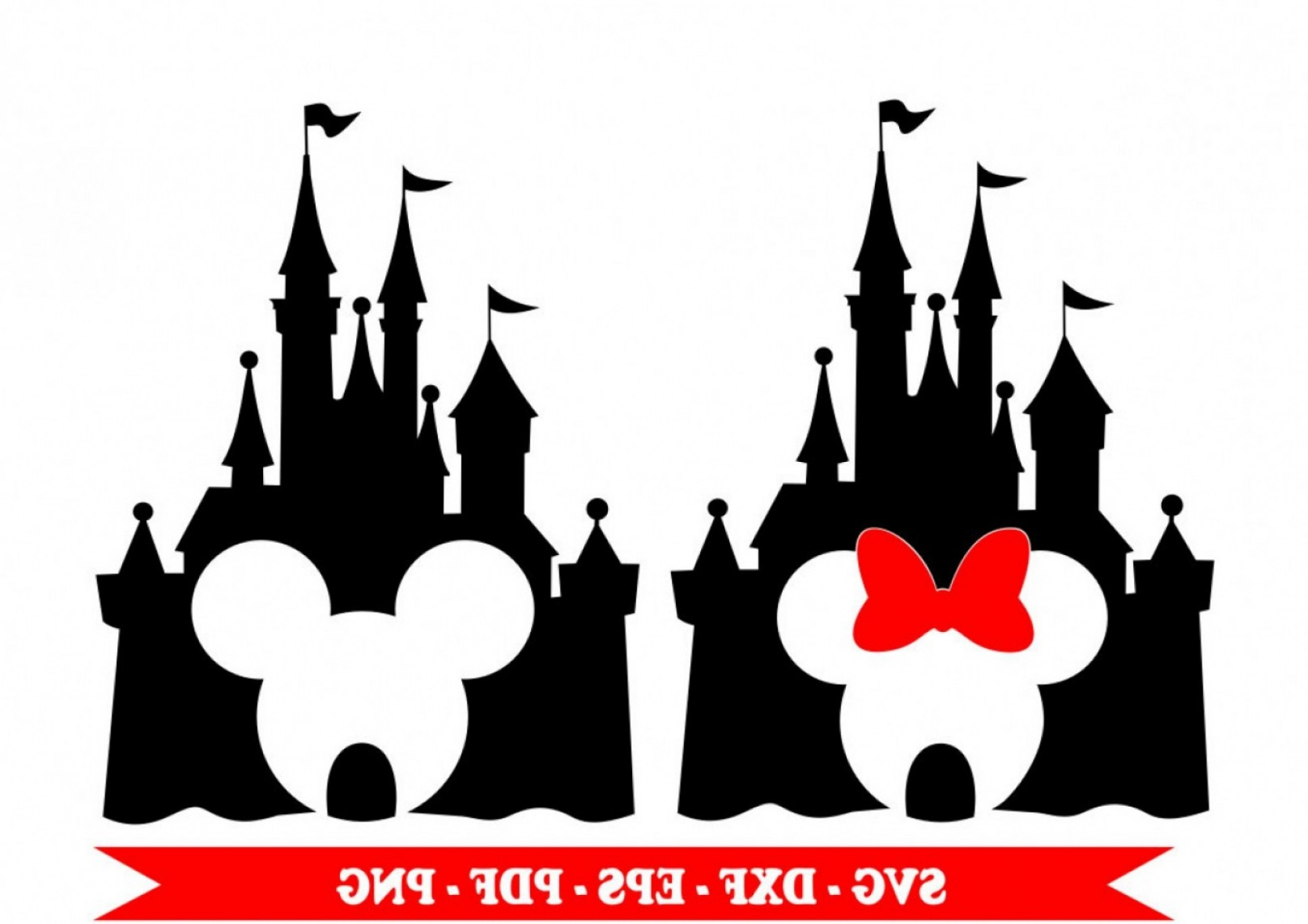 Minnie mouse ears with disney kingdom clipart vector free Castle Disney Svg Mickey Mouse Minnie | lamaison vector free