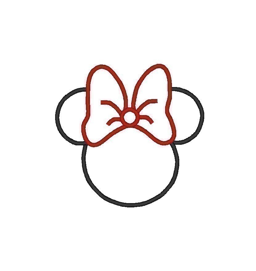 Minnie mouse head outline clipart clip art black and white download Free Minnie Mouse Head Outline, Download Free Clip Art, Free Clip ... clip art black and white download