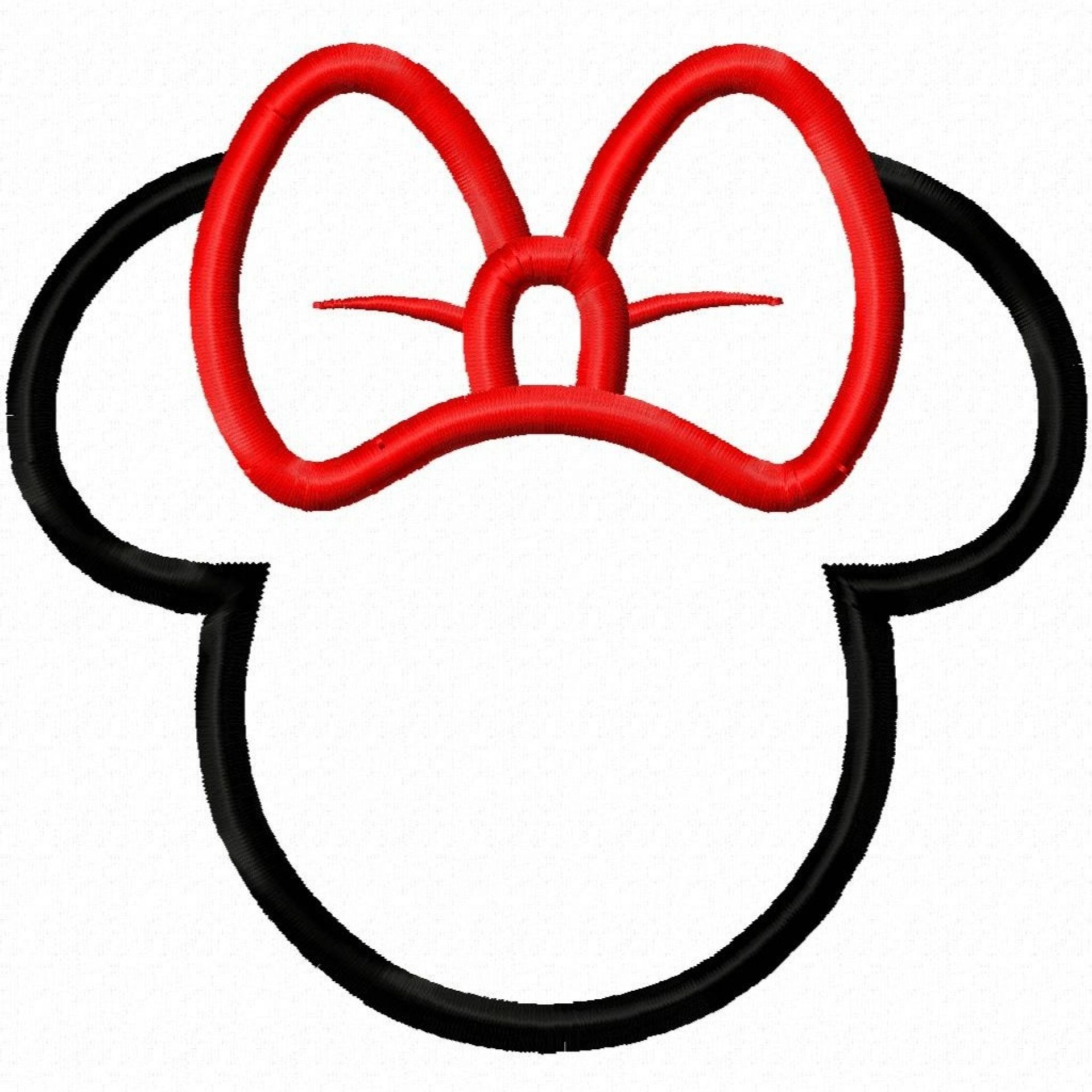 Minnie mouse head outline clipart vector royalty free Minnie Mouse Bow Template - ClipArt Best | Cameo Silhouette | Mickey ... vector royalty free