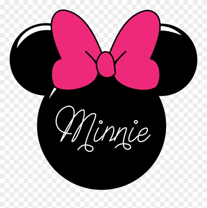 Minnie mouse logo clipart clipart black and white library Minnie Mouse Silhouette Clip Art - Minnie Mouse Head Png Transparent ... clipart black and white library