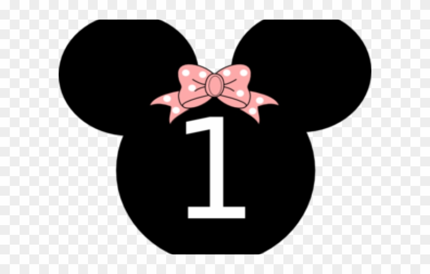 Minnie mouse with one hand out clipart clipart transparent stock Minnie Mouse Clipart Number One - Minnie 1st Birthday ... clipart transparent stock