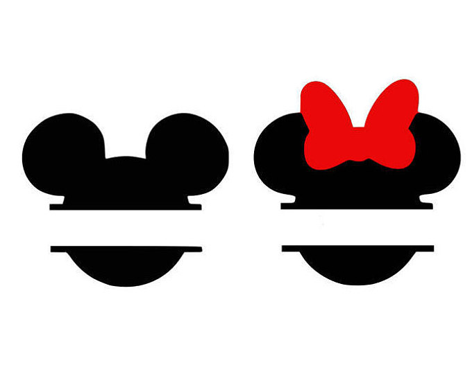 Minnie outline with monogram in middle clipart svg library Minnie Mouse Logo | Free download best Minnie Mouse Logo on ... svg library