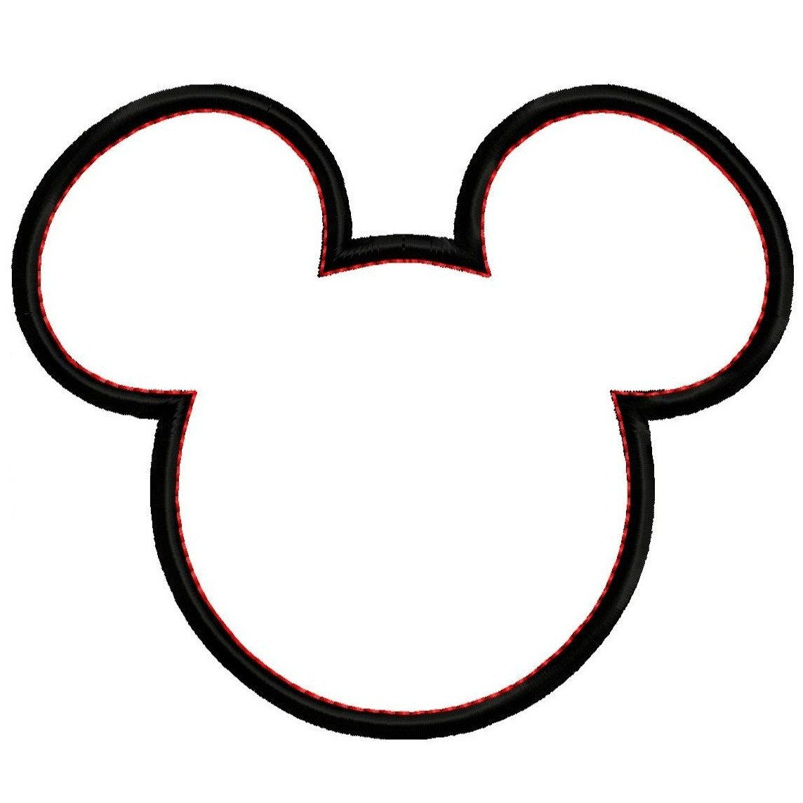 Minnie outline with monogram in middle clipart svg download Mickey Mouse Head Silhouette Clipart Panda Free Clipart ... svg download