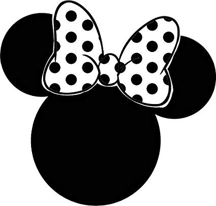 Minny mouse ears clipart black and white clip art free stock Minnie Mouse Ears 6\