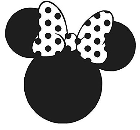 Minny mouse ears clipart black and white graphic library library Amazon.com: Minnie Mouse Ears Black Car Truck VINYL Decal Art Wall ... graphic library library