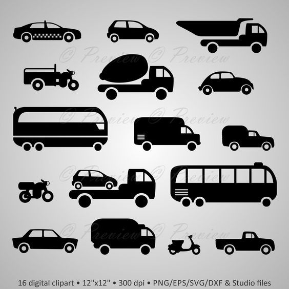 Minor buying a car clipart clipart freeuse library Buy 2 Get 1 Free! Digital Clipart Transport Silhouettes, car, auto ... clipart freeuse library