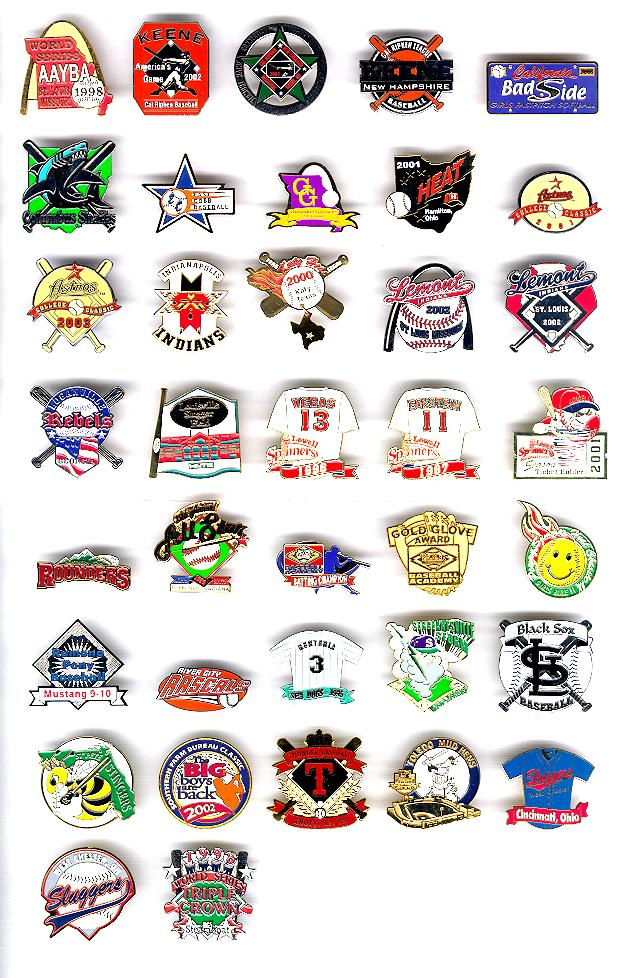 Minor league baseball image black and white stock American Minor League Baseball Pins, US Minor League Baseball Pins ... image black and white stock
