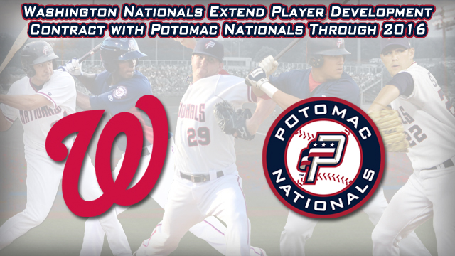 Minor league player development contracts jpg black and white Washington Nationals Extend Player Development Contract with ... jpg black and white