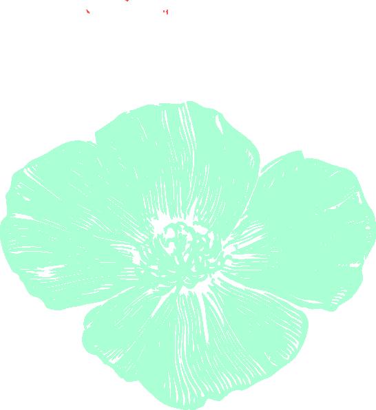 Mint and coral flower clipart clip art stock Mint Poppy Clip Art at Clker.com - vector clip art online, royalty ... clip art stock