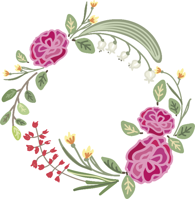 Mint and coral flower clipart clip art royalty free Transparent flower wreath material for purple flowers   Flower ... clip art royalty free