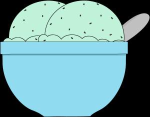 Mint chocolate chip clipart jpg stock Bowl of Mint Chocolate Chip Ice Cream Clip Art - Clip Art Library jpg stock