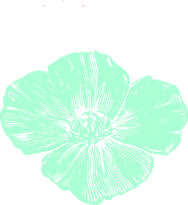 Mint flower clipart svg library download Mint green and peach flowers clipart - ClipartFest svg library download