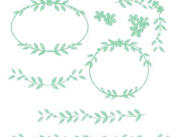 Mint flower clipart picture download Mint flowers clipart | Etsy picture download