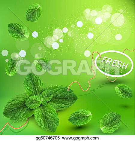 Mint grass clipart clipart free download Drawing - Green background with fresh mint leaves. Clipart Drawing ... clipart free download