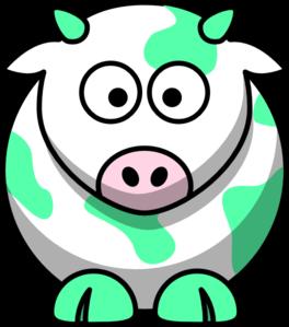 Mint green clipart banner transparent download Mint Green Cow Clip Art at Clker.com - vector clip art online ... banner transparent download