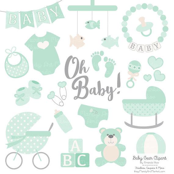 Mint green clipart banner transparent download Premium Baby Clipart & Vectors in Mint Green Mint Baby Clip banner transparent download