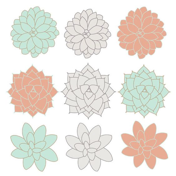 INSTANT DOWNLOAD // Digital Clip Art // Succulents Clip Art ... png freeuse download