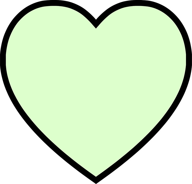 Mint green heart clipart clip library mint green heart