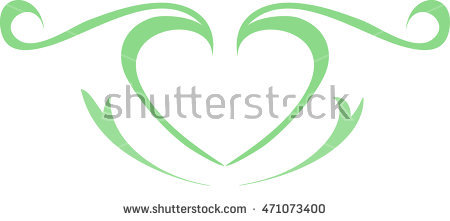 Mint green heart clipart picture transparent stock Green Heart Drawing Love Valentine Stock Illustration 376732972 ... picture transparent stock