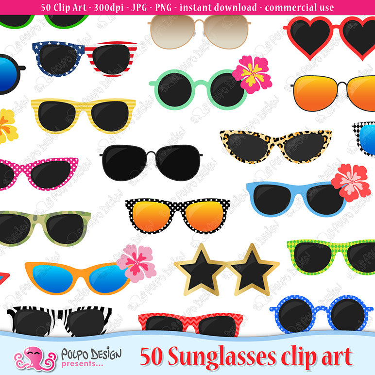 Mint green sunglasses clipart clip royalty free download Sunglasses clipart | Etsy clip royalty free download