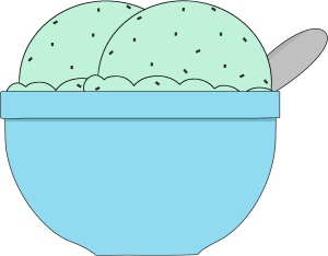 Mint ice cream clipart picture free stock Bowl of Mint Chocolate Chip Ice Cream Clip Art - Bowl of Mint ... picture free stock