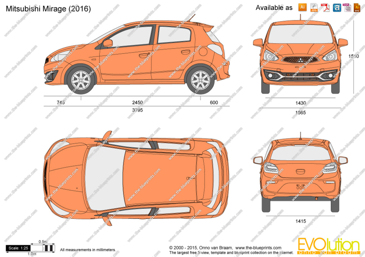 Mirage 2017 clipart banner freeuse library Mitsubishi Mirage vector drawing banner freeuse library