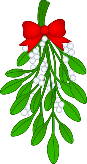 Mistlrtoe clipart svg freeuse library Christmas Mistletoe With Red Bow - Free Clip Art   CHRISTMAS ... svg freeuse library