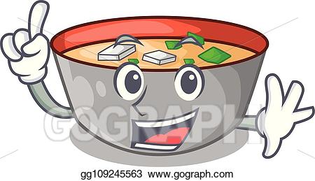 Miso soup clipart clipart transparent stock Vector Stock - Finger delicious meal of miso soup cartoon. Clipart ... clipart transparent stock