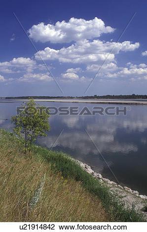 Misouri river water clipart svg stock Stock Photo of North Dakota, Missouri River flows next to Fort ... svg stock