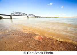Misouri river water clipart clip library stock Stock Photography of Turbid waters of Missouri river in South ... clip library stock