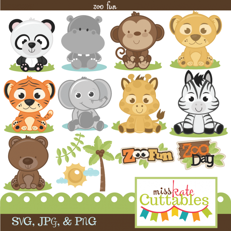 Thanksgiving baby animals free clipart clip Miss Kate Cuttables Zoo Fun Bundle SVG files for scrapbooking free ... clip
