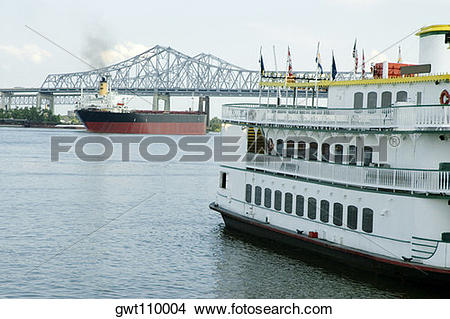Mississippi river water clipart jpg library stock Stock Photo of Paddle steamer in a river, Mississippi River, New ... jpg library stock