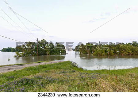 Mississippi river water clipart stock Stock Photograph of Agriculture - Grain elevator flooded by the ... stock