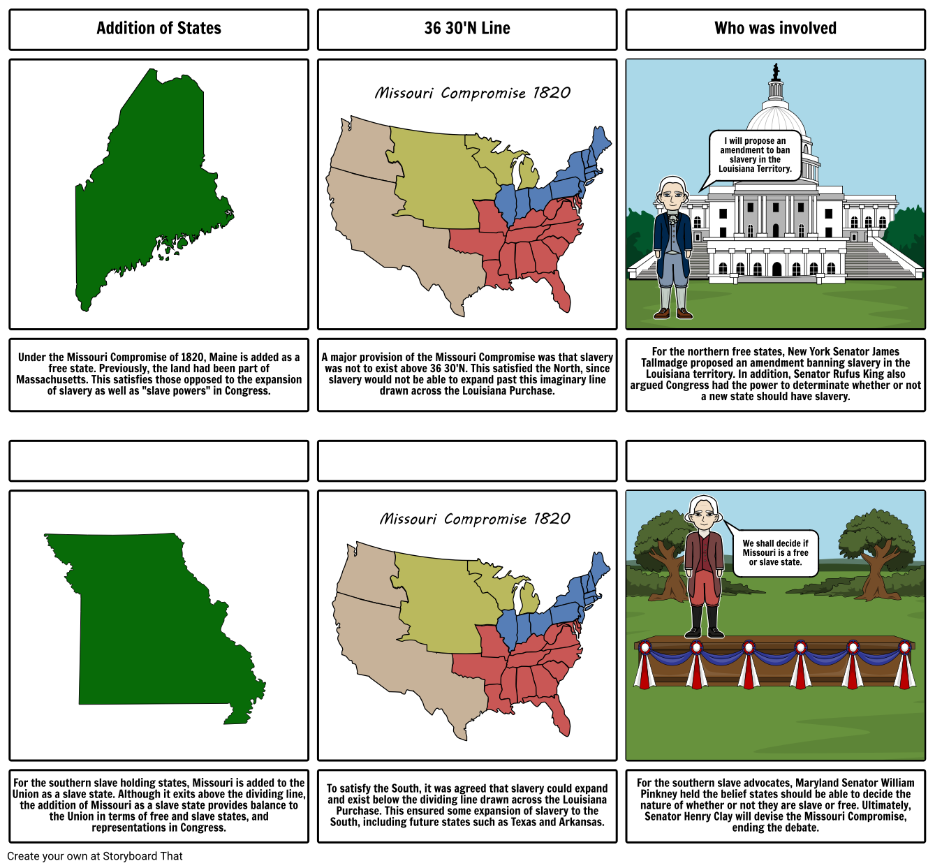 Missouri compromise clipart vector black and white download Missouri Compromise Storyboard par ramiroflores vector black and white download