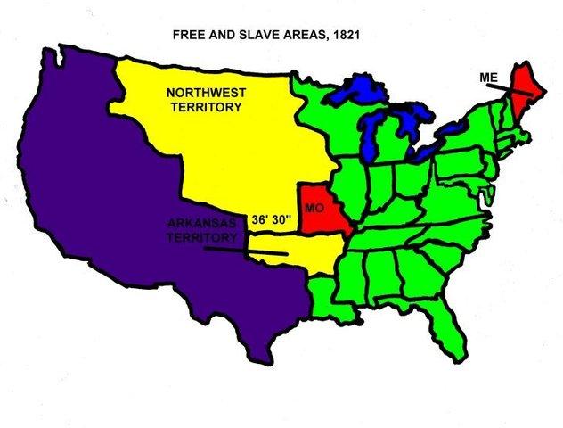 Missouri compromise clipart clip download A Dividing Nation timeline | Timetoast timelines clip download
