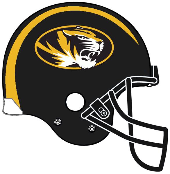 Missouri tigers football clipart clipart black and white library Missouri Tigers Helmet Logo (0) - Missouri Tigers football ... clipart black and white library